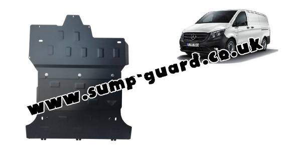 Steel sump guard for Mercedes Viano W447 2.2 D, 4x2