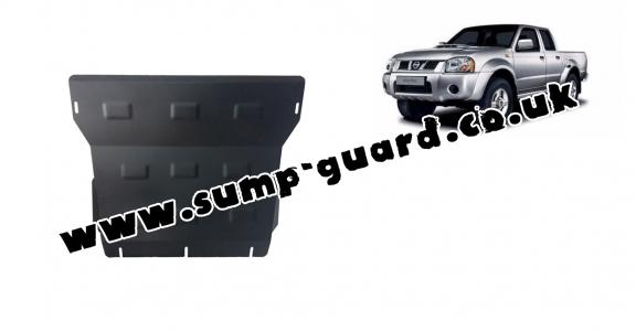 Steel sump guard for the protection of the engine and the radiator for Nissan Navara D22