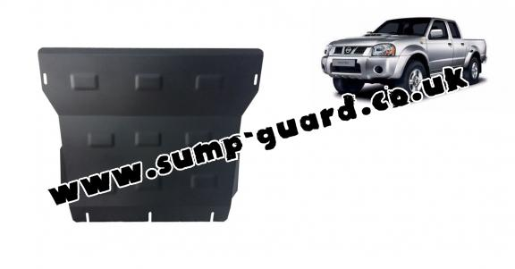 Steel sump guard for the protection of the engine and the radiator for Nissan Pick Up