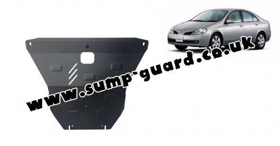 Steel sump guard for Nissan Primera P12