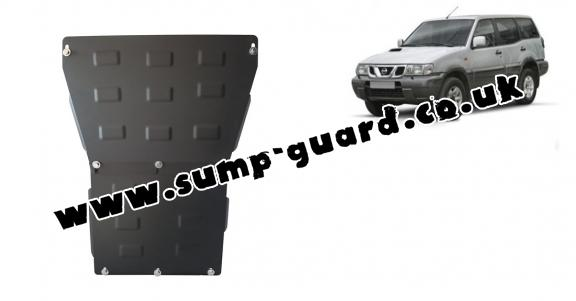 Steel sump guard for Nissan Terrano II