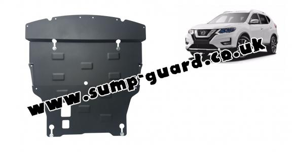 Steel sump guard for Nissan X-Trail T32