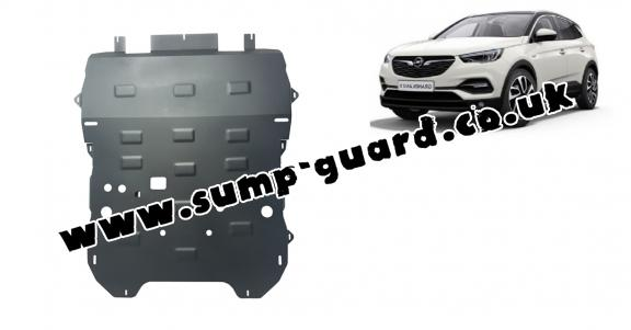 Steel sump guard for Vauxhall Grandland X