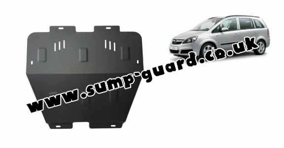 Steel sump guard for Vauxhall Zafira B