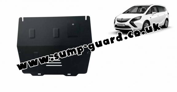 Steel sump guard for Vauxhall Zafira C