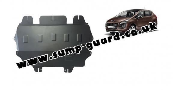 Steel sump guard for the protection of the engine and the gearbox for Peugeot 3008