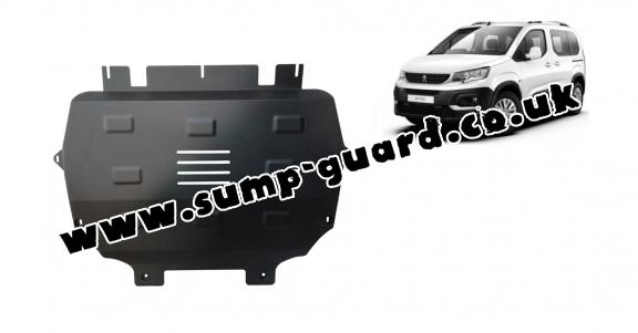 Steel sump guard for Peugeot Rifter