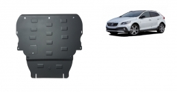 Steel sump guard for Volvo V40