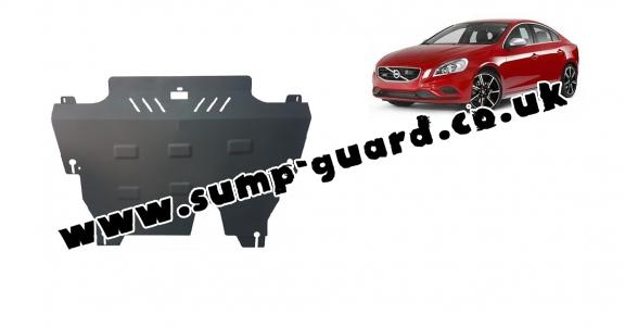 Steel sump guard for the protection of the engine and the gearbox for Volvo S60