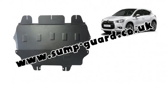 Steel sump guard for Citroen DS4