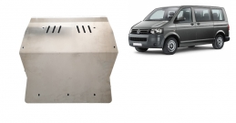 Aluminum sump guard for Volkswagen Transporter T5 Caravelle