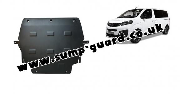 Steel sump guard for Vauxhall Zafira Life