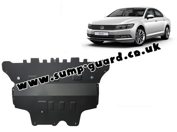 Steel sump guard for VW Passat B8 - manual gearbox