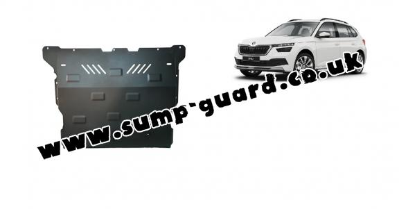 Steel sump guard for Skoda Kamiq