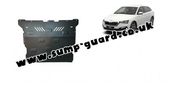 Steel sump guard for Skoda Scala