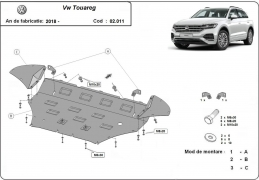 Steel sump guard for Volkswagen Touareg