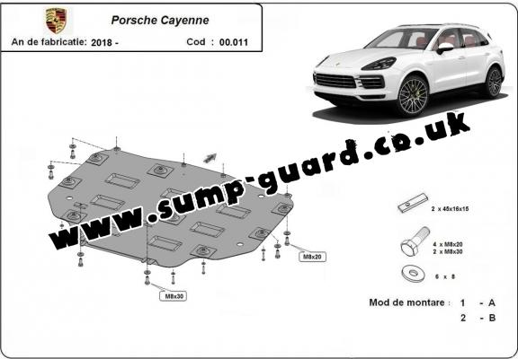 Steel gearbox guard for Porsche Cayenne