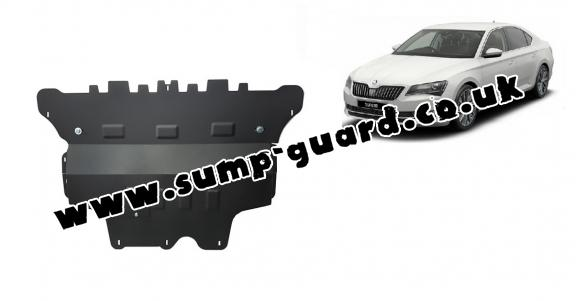 Steel sump guard for Skoda Superb - automatic gearbox