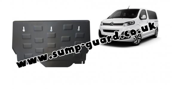 Steel sump guard for Citroen Spacetourer MPV