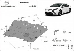 Steel sump guard for  Opel Ampera