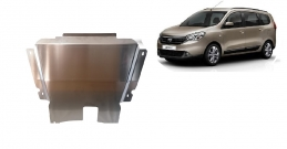 Aluminum sump guard for DACIA LODGY