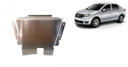 Aluminum sump guard for DACIA LOGAN 2