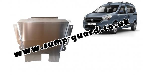 Aluminum sump guard for DACIA DOKKER