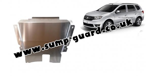 Aluminum sump guard for DACIA LOGAN MCV