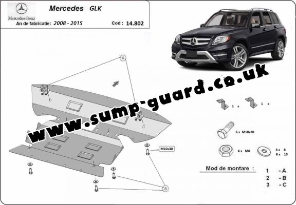 Steel sump guard for  Mercedes GLK X204