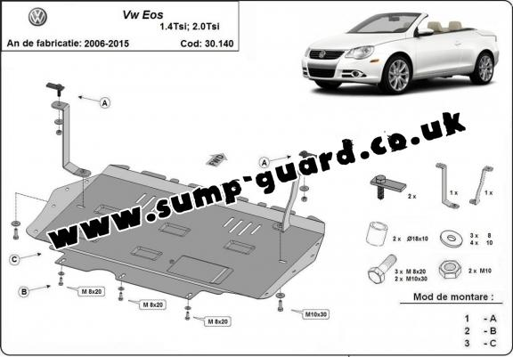 Steel sump guard for Volkswagen Eos