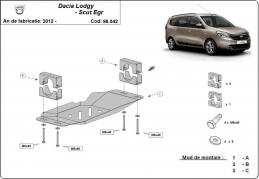 Steel guard for Stop&Go system, EGR Dacia Lodgy