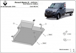 Steel AdBlue tank guard for  Renault Master 3 - only for flatbed models