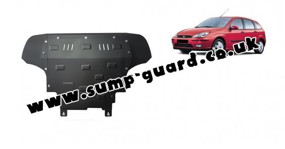 Steel sump guard for Ford Focus 1