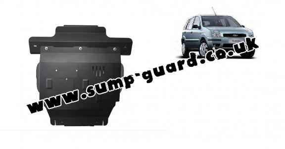 Steel sump guard for Ford Fusion
