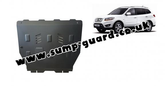Steel sump guard for Hyundai Santa Fe