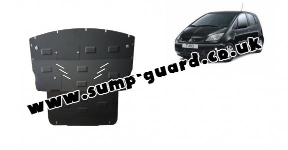 Steel sump guard for Mitsubishi Colt