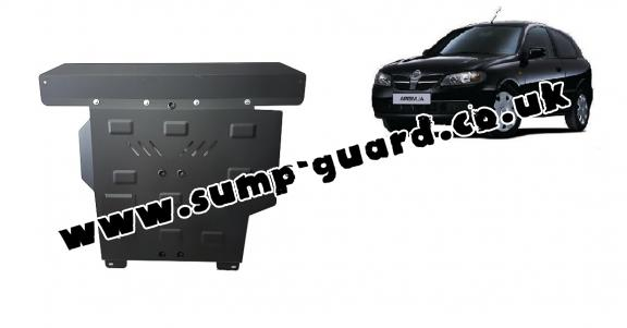 Steel sump guard for Nissan Almera Tino