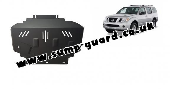 Steel sump guard for Nissan Pathfinder