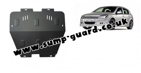 Steel sump guard for Vauxhall Astra H