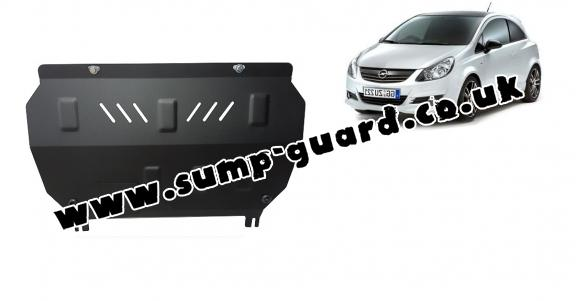 Steel sump guard for Vauxhall Corsa D