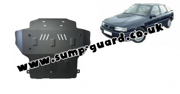 Steel sump guard for Vauxhall Vectra A