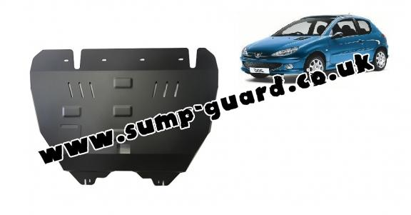Steel sump guard for Peugeot 206