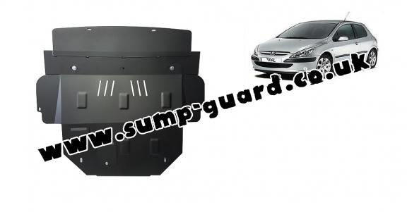 Steel sump guard for Peugeot 307