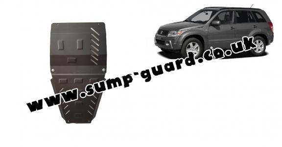Steel gearbox and transfer case guard for Suzuki Grand Vitara 2