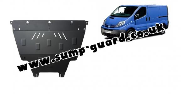 Steel sump guard for Nissan Primastar