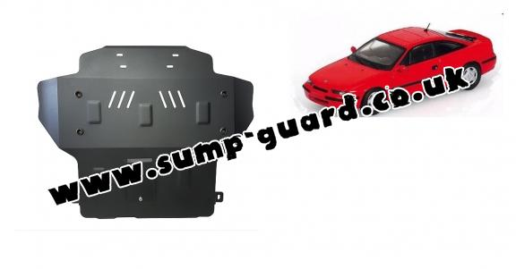 Steel sump guard for Vauxhall Calibra