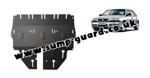 Steel sump guard for Volkswagen Pointer