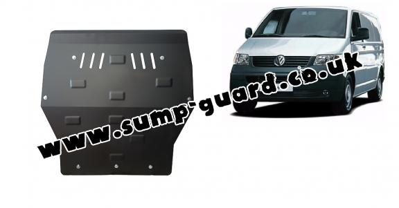 Steel sump guard for Volkswagen Transporter T5