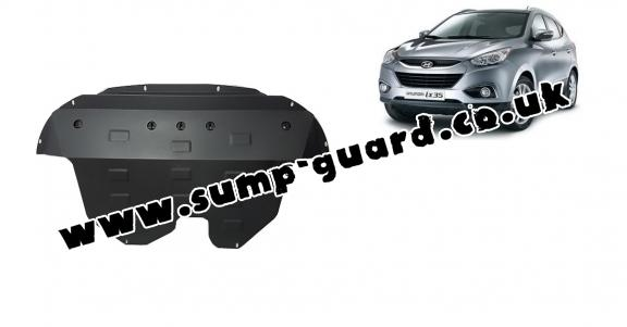 Steel sump guard for Hyundai IX35