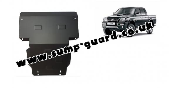 Steel sump guard for Mitsubishi L200